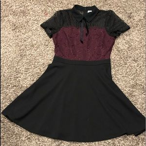 Elle Collared Lace Dress